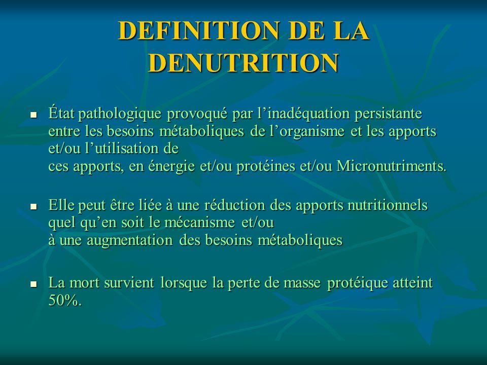 DEFINITION DE LA DENUTRITION