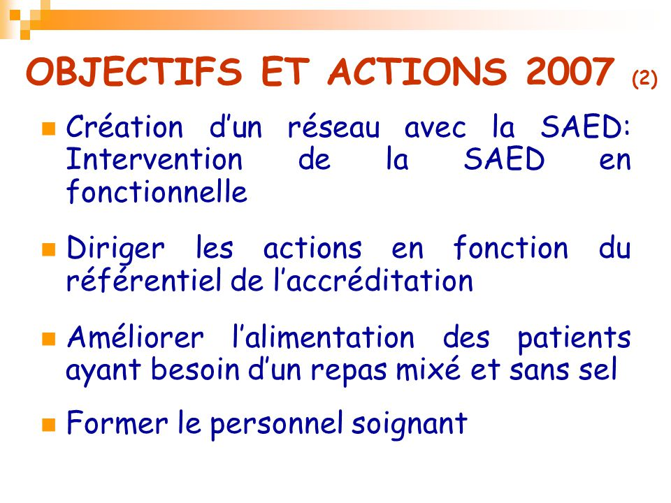 OBJECTIFS ET ACTIONS 2007 (2)