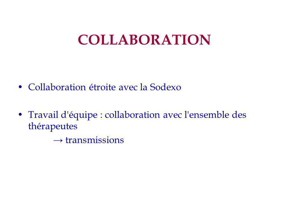 COLLABORATION Collaboration étroite avec la Sodexo