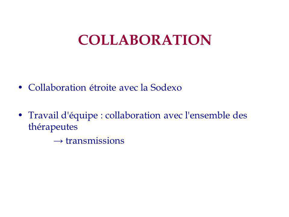 COLLABORATION Collaboration étroite avec la Sodexo