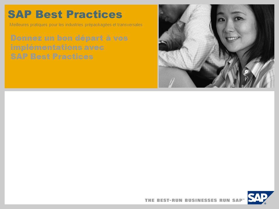 SAP TechEd '04 SAP Best Practices Meilleures pratiques pour les industries prépackagées et transversales.