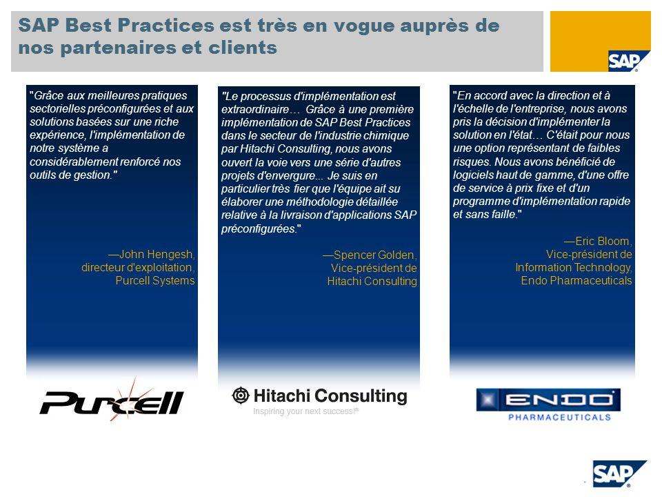 SAP TechEd '04 SAP Best Practices est très en vogue auprès de nos partenaires et clients.