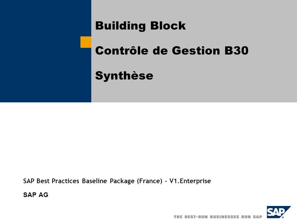 Building Block Contrôle de Gestion B30 Synthèse