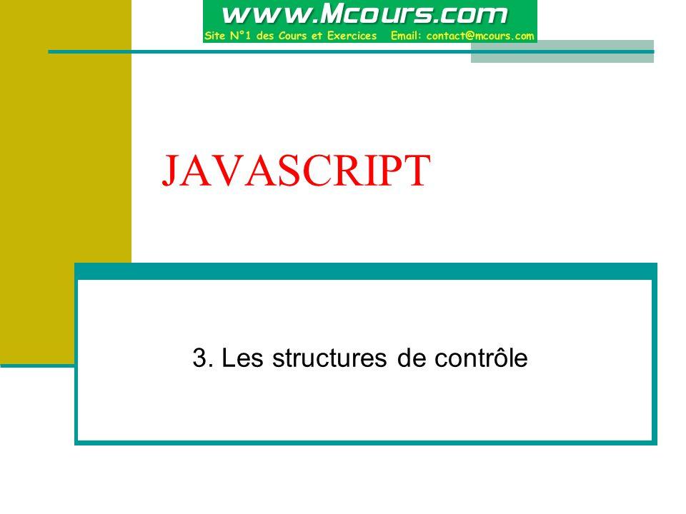 3. Les structures de contrôle