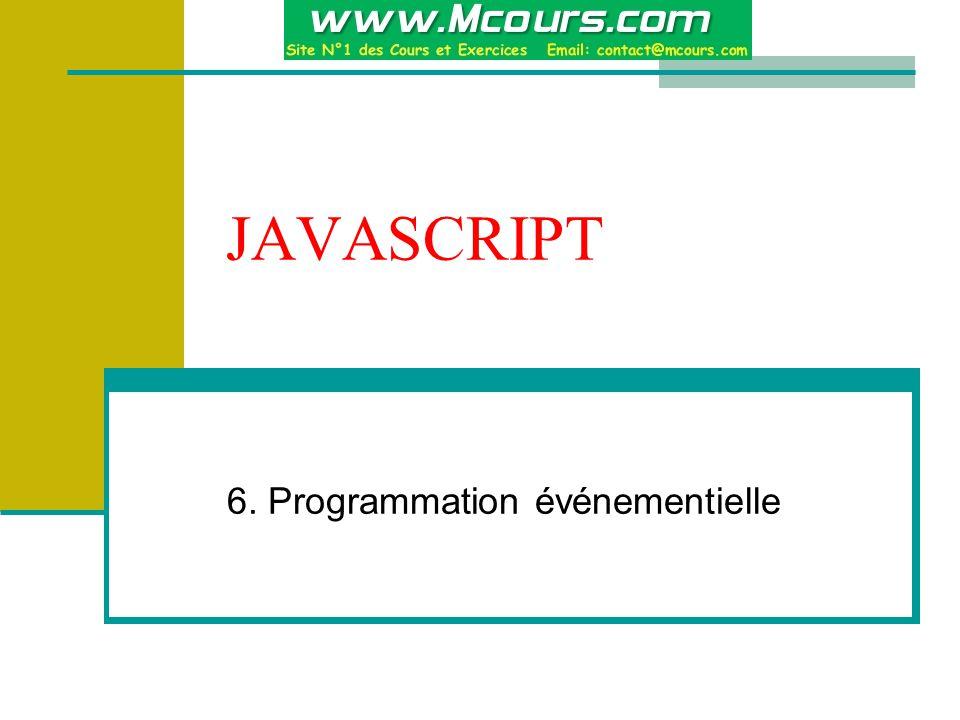 6. Programmation événementielle
