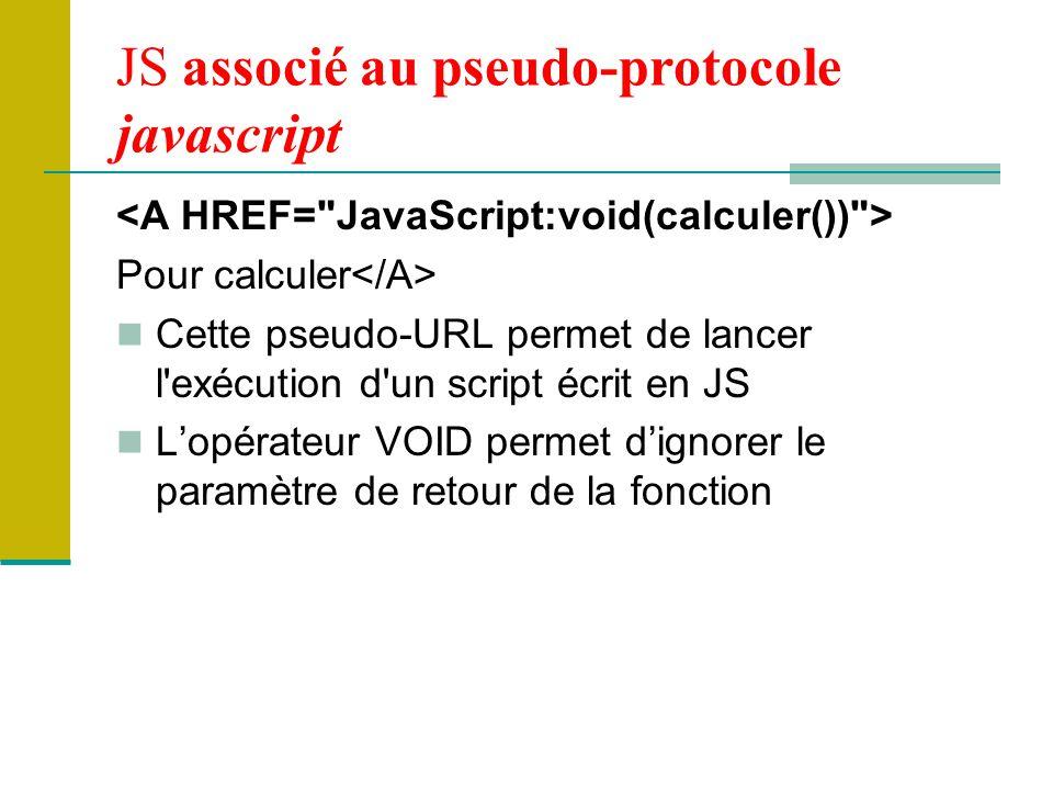 JS associé au pseudo-protocole javascript
