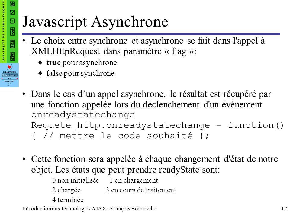 Javascript Asynchrone