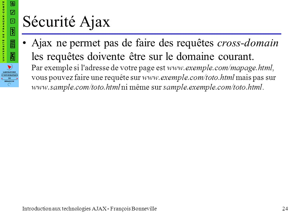 Sécurité Ajax