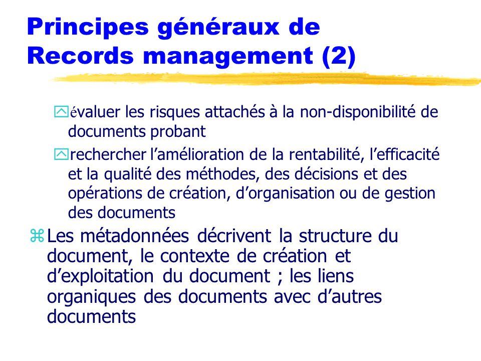 Principes généraux de Records management (2)