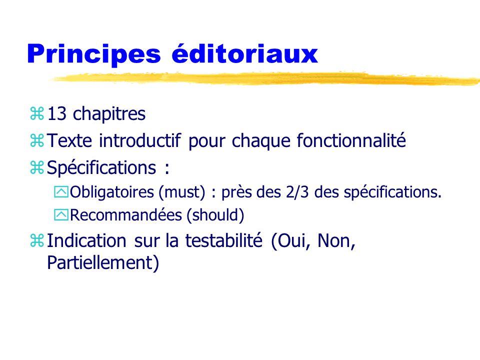 Principes éditoriaux 13 chapitres