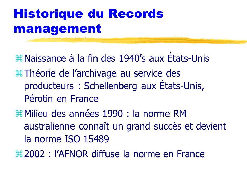 Historique du Records management
