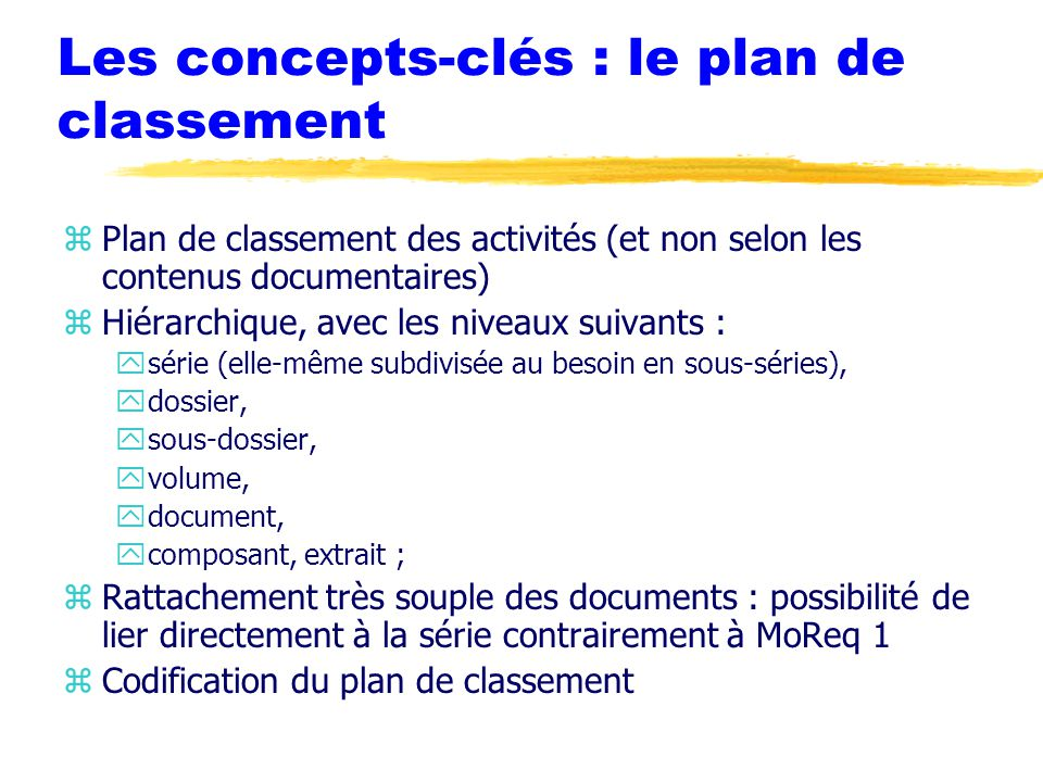 Le records management historique finalit s enjeux for Les plans de lowe
