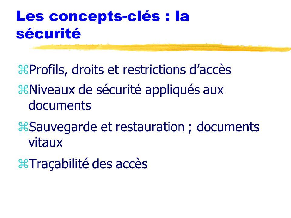 Les concepts-clés : la sécurité