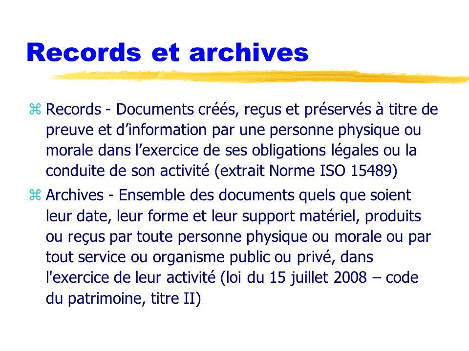 Records et archives