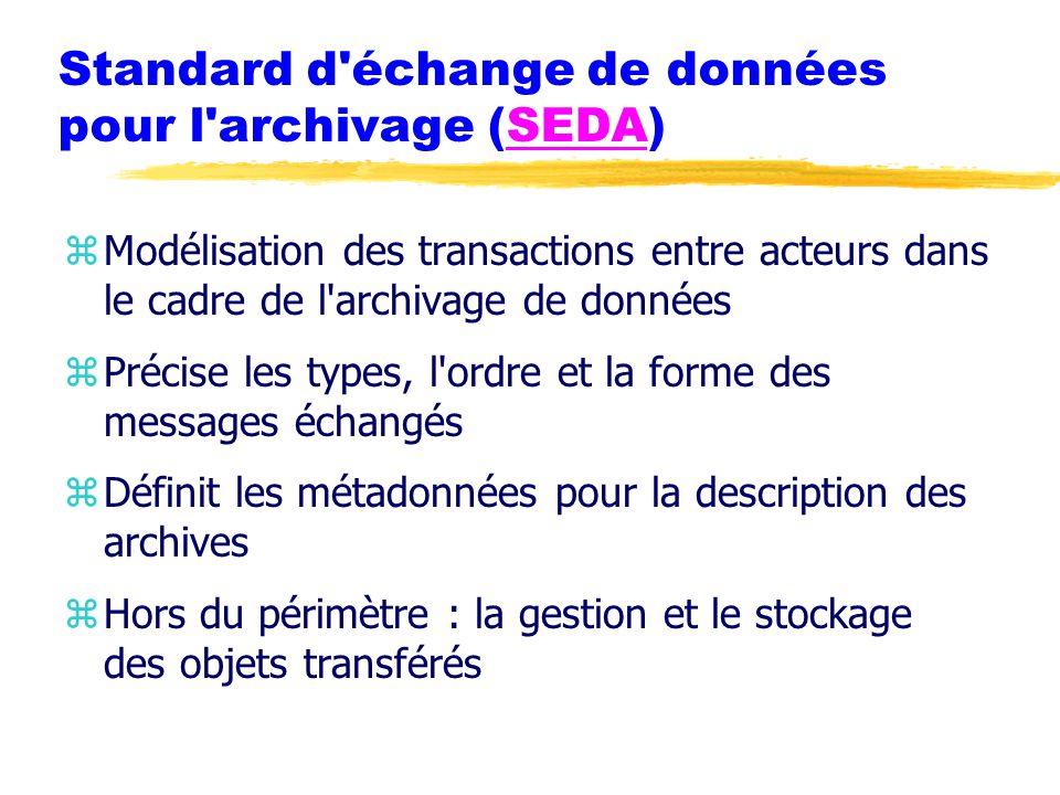 Standard d échange de données pour l archivage (SEDA)