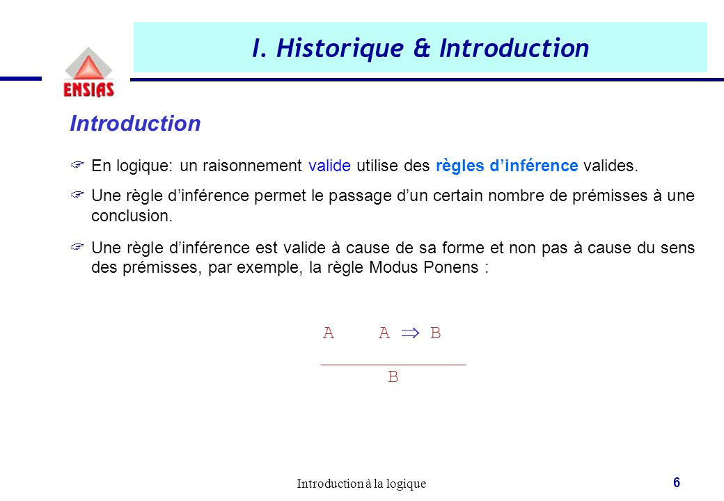 I. Historique & Introduction