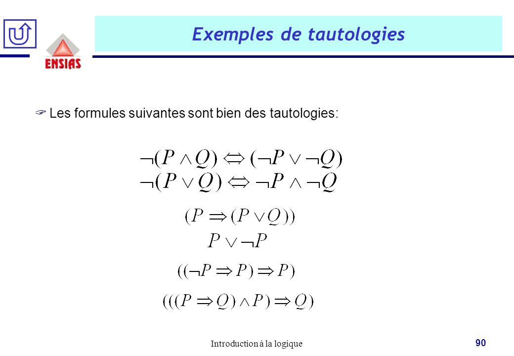 Exemples de tautologies