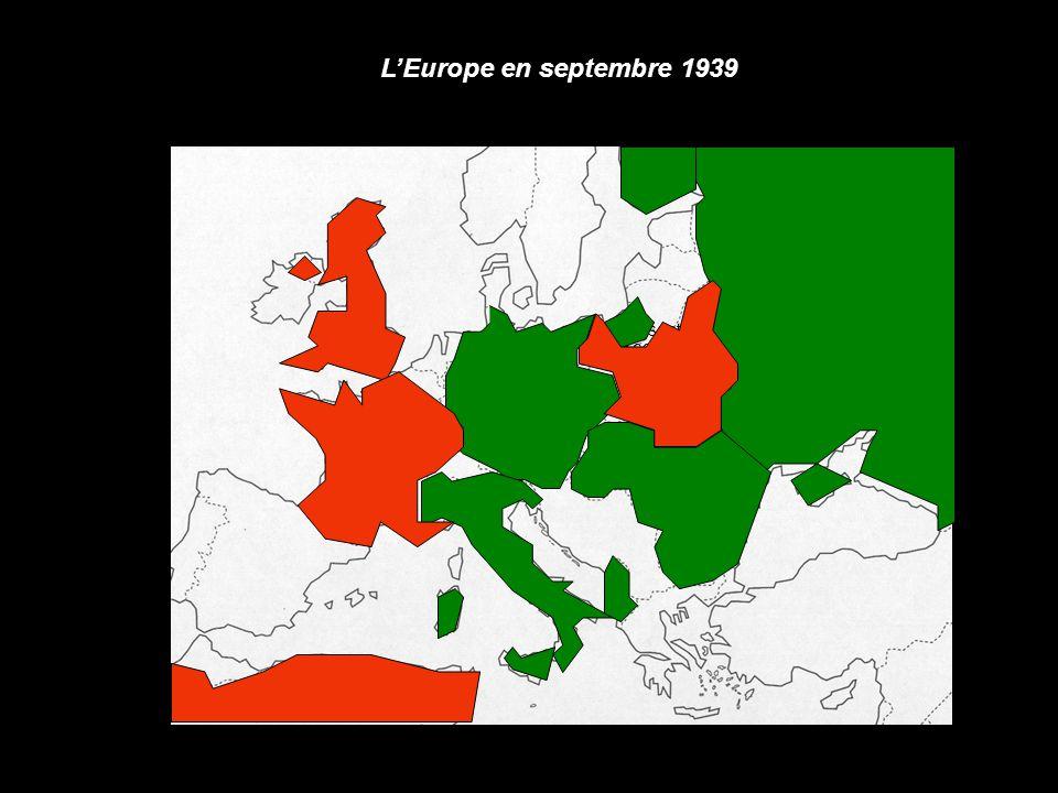 L'Europe en septembre 1939 1er sept 1939