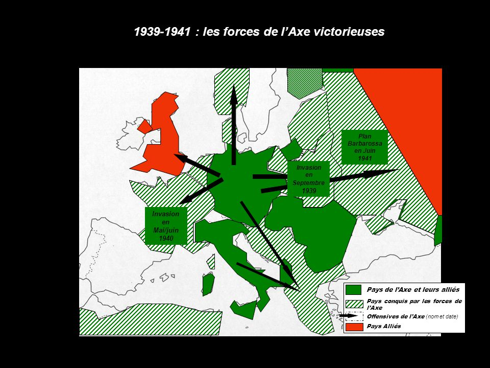 1939-1941 : les forces de l'Axe victorieuses