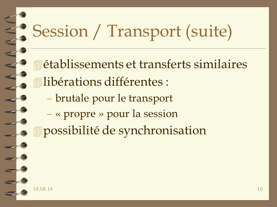 Session / Transport (suite)