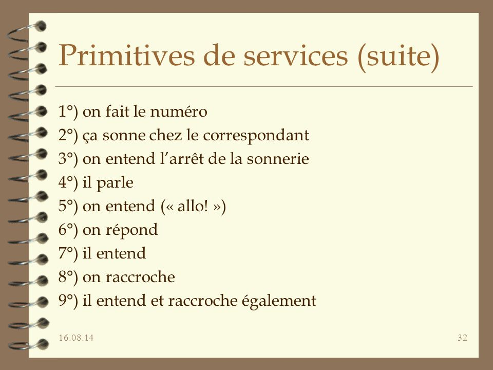 Primitives de services (suite)