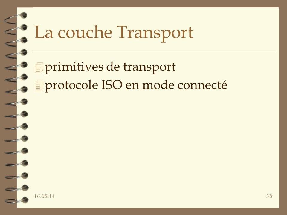 La couche Transport primitives de transport