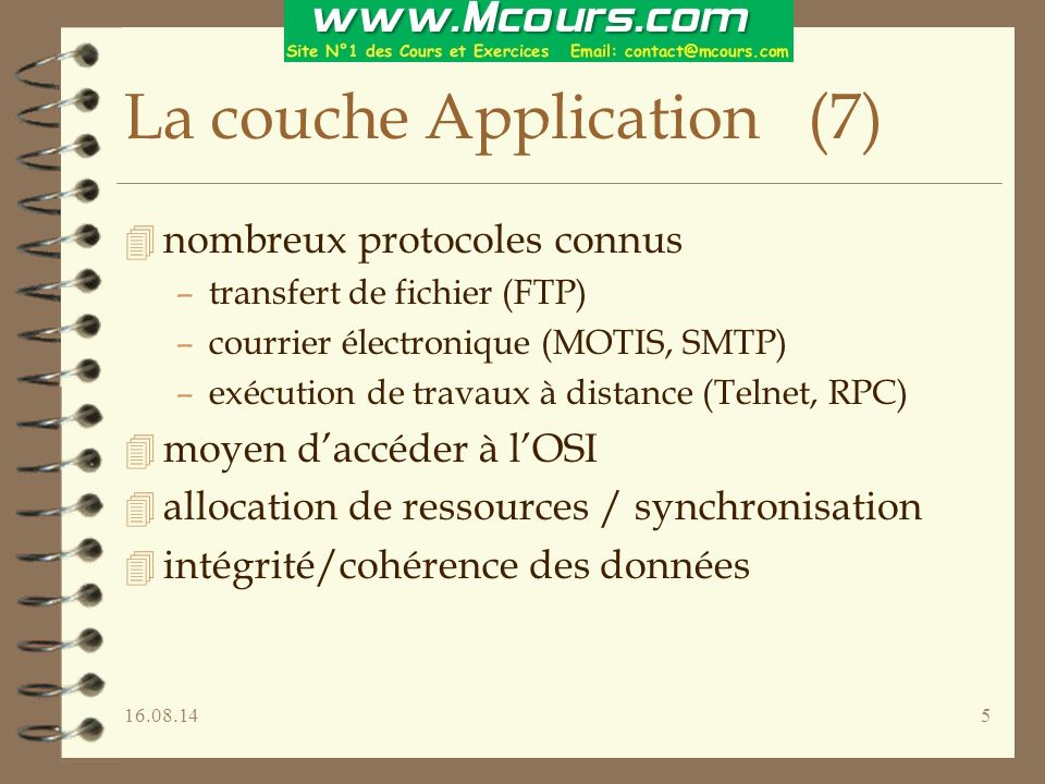 La couche Application (7)