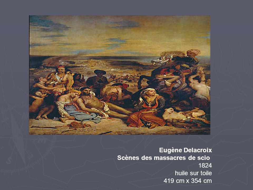 Eugène Delacroix Scènes des massacres de scio 1824 huile sur toile 419 cm x 354 cm