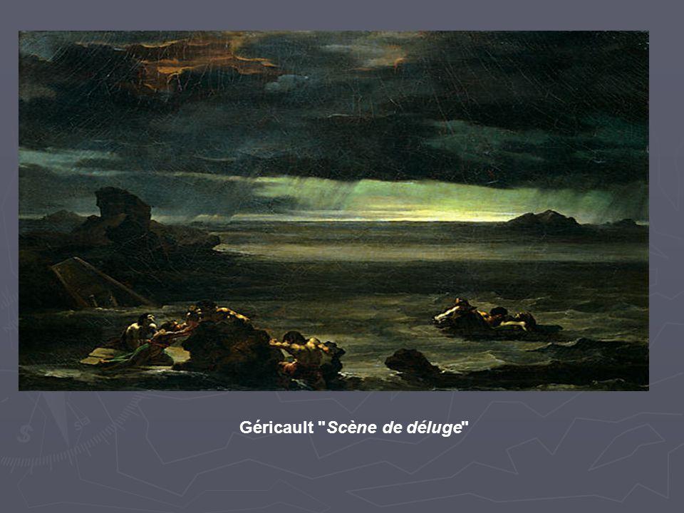 Scène de déluge Géricault