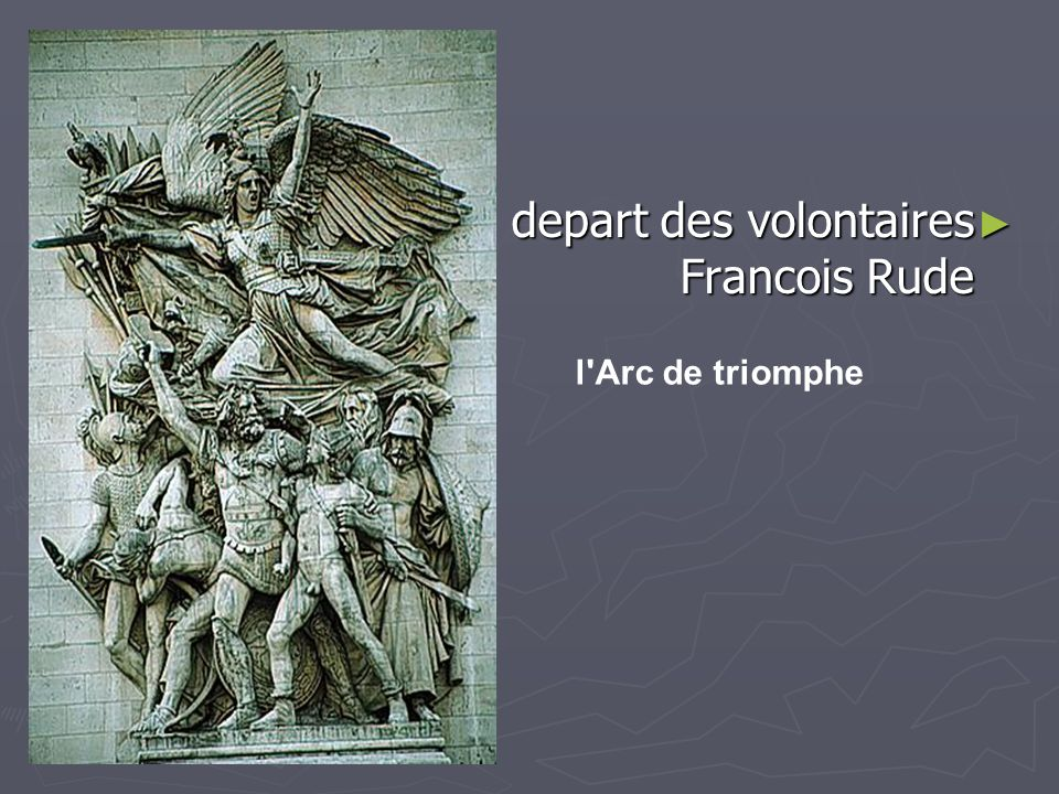 depart des volontaires Francois Rude