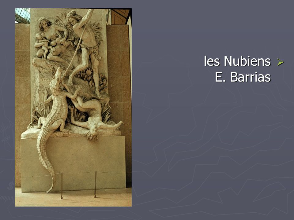les Nubiens E. Barrias