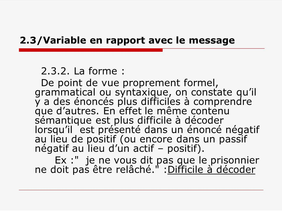 2.3/Variable en rapport avec le message