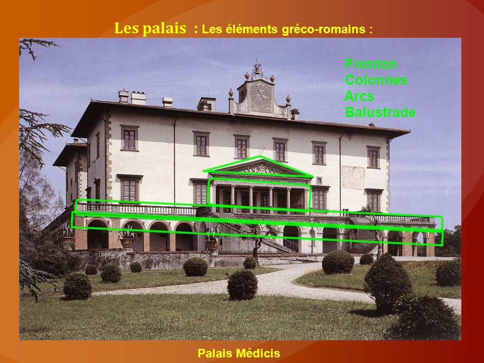 Les palais : Les éléments gréco-romains :