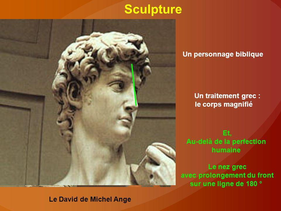 Sculpture Un personnage biblique Un traitement grec :