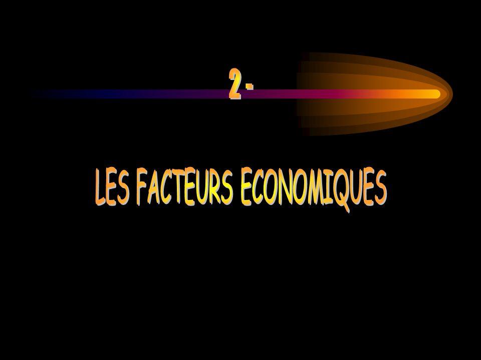 LES FACTEURS ECONOMIQUES