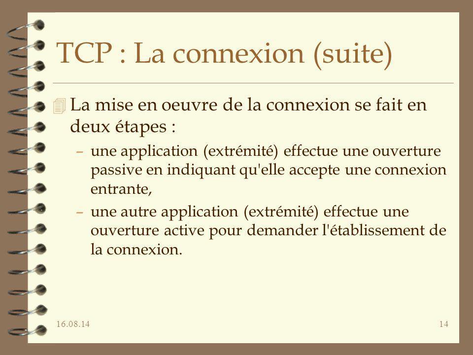TCP : La connexion (suite)