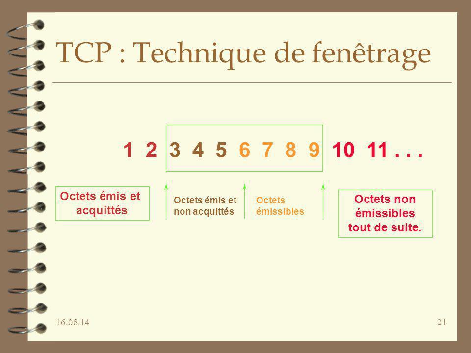 TCP : Technique de fenêtrage
