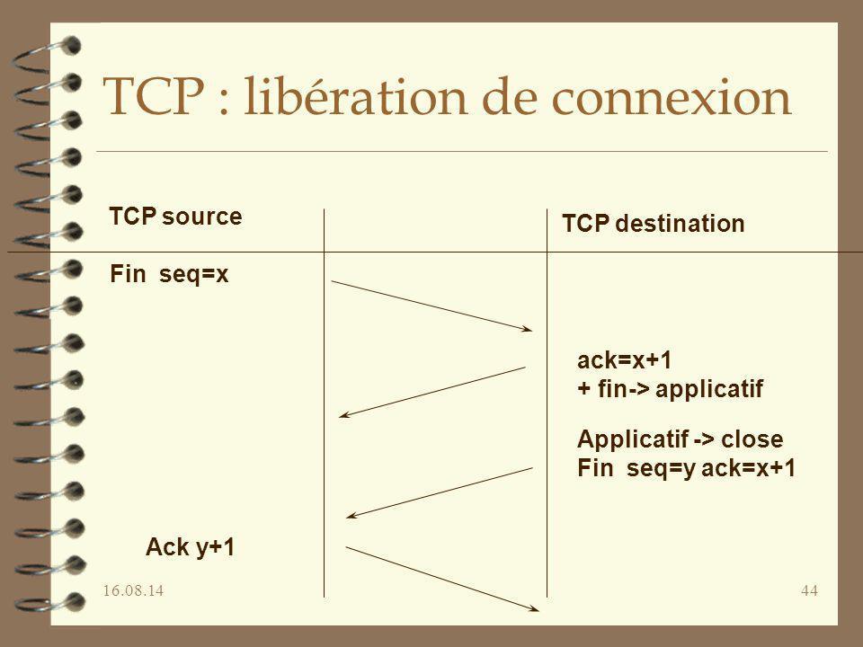 TCP : libération de connexion