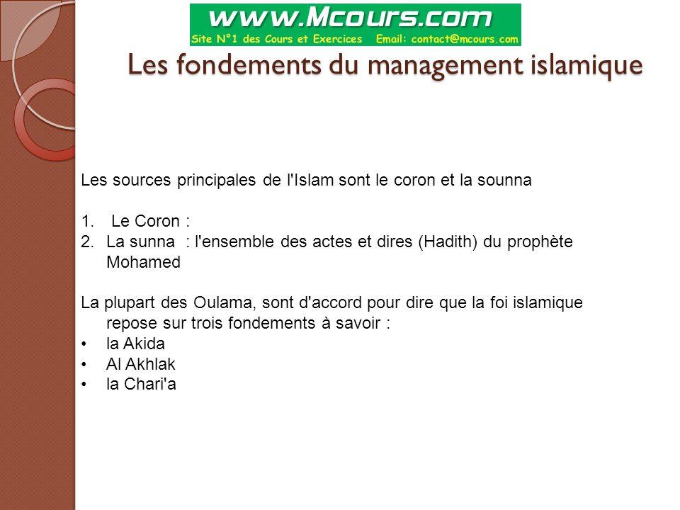 Les fondements du management islamique