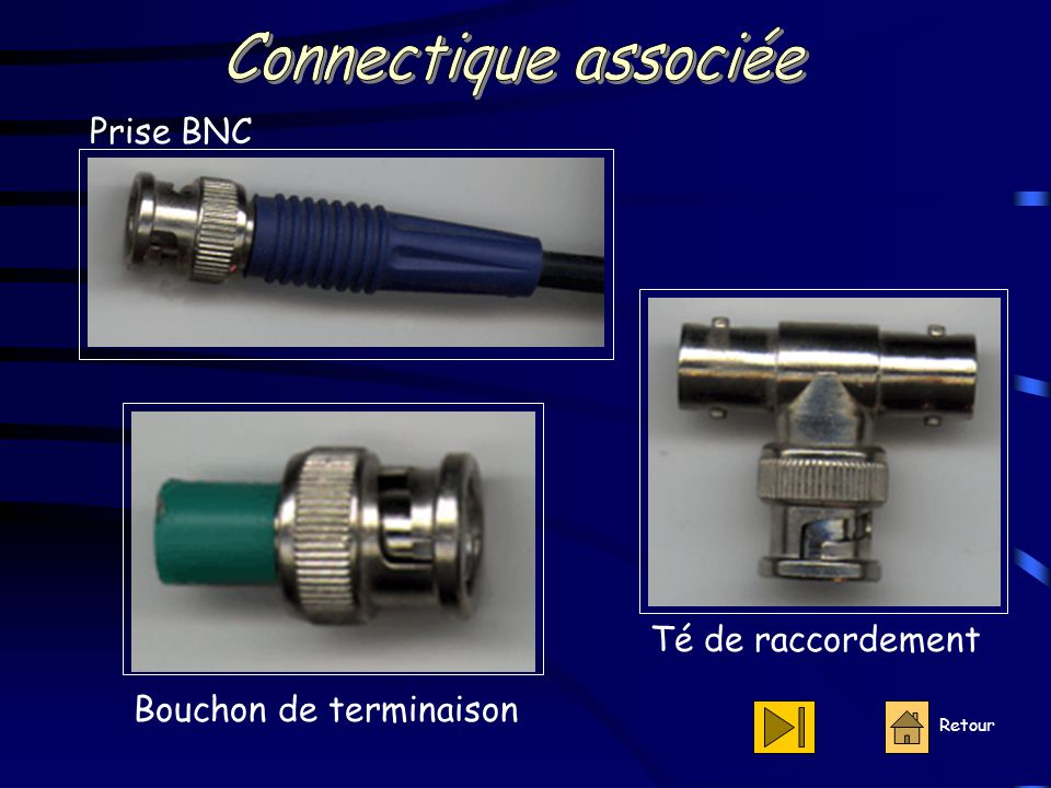 Connectique associée Prise BNC Té de raccordement