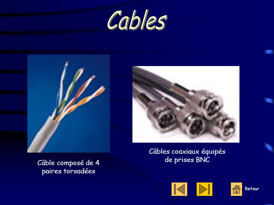 Cables Câbles coaxiaux équipés de prises BNC