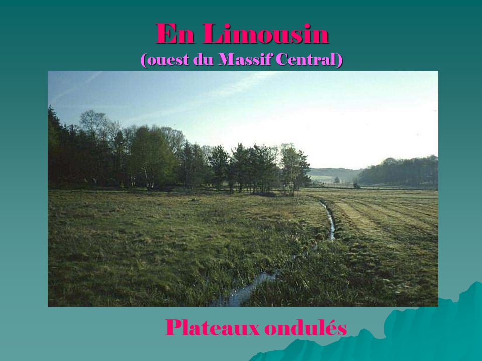En Limousin (ouest du Massif Central)