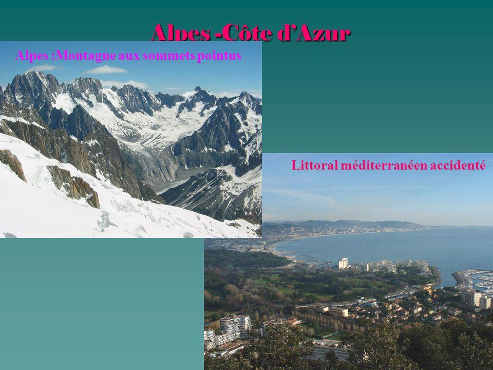 Alpes -Côte d'Azur Alpes :Montagne aux sommets pointus