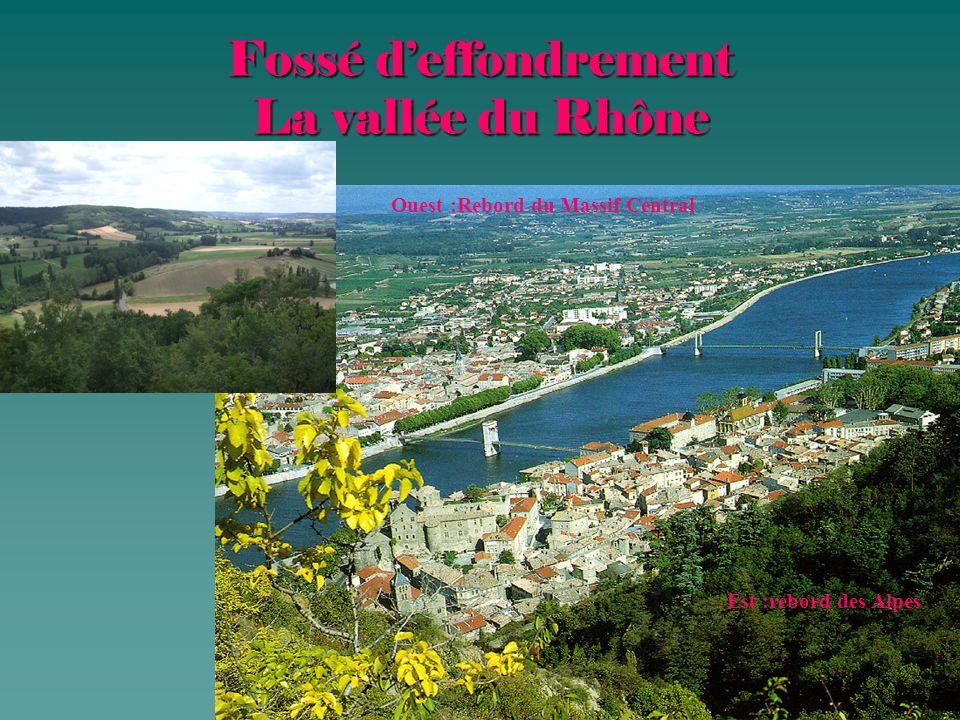 Fossé d'effondrement La vallée du Rhône