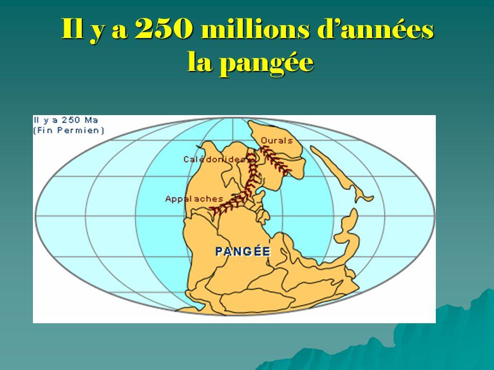 Il y a 250 millions d'années la pangée