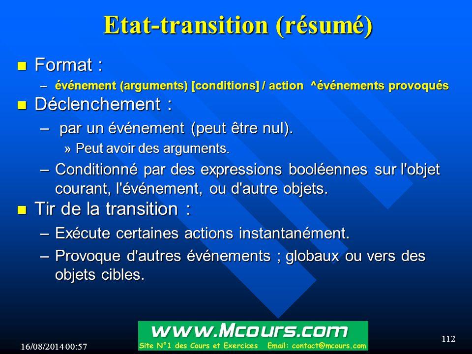 Etat-transition (résumé)