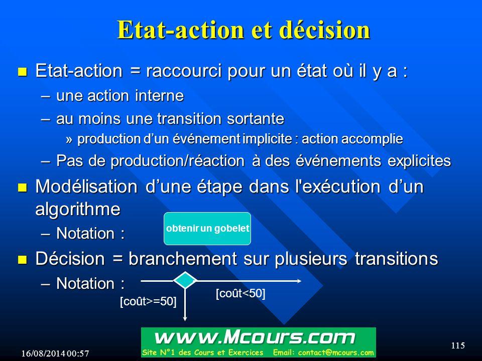 Etat-action et décision