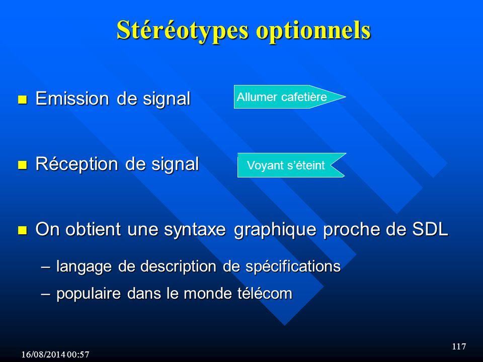 Stéréotypes optionnels