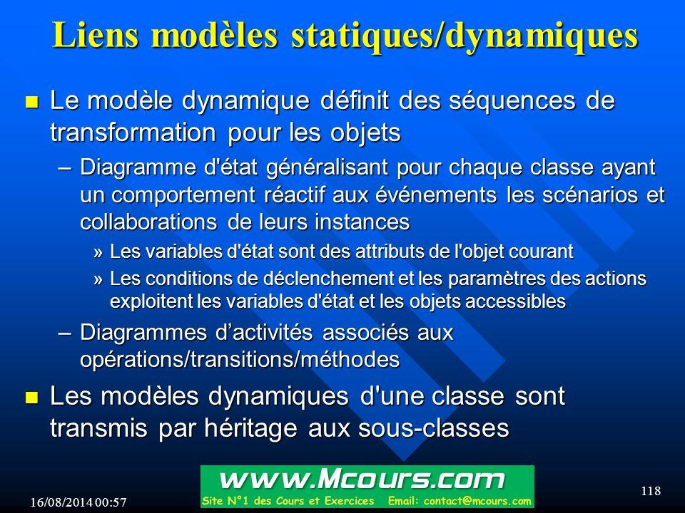 Liens modèles statiques/dynamiques
