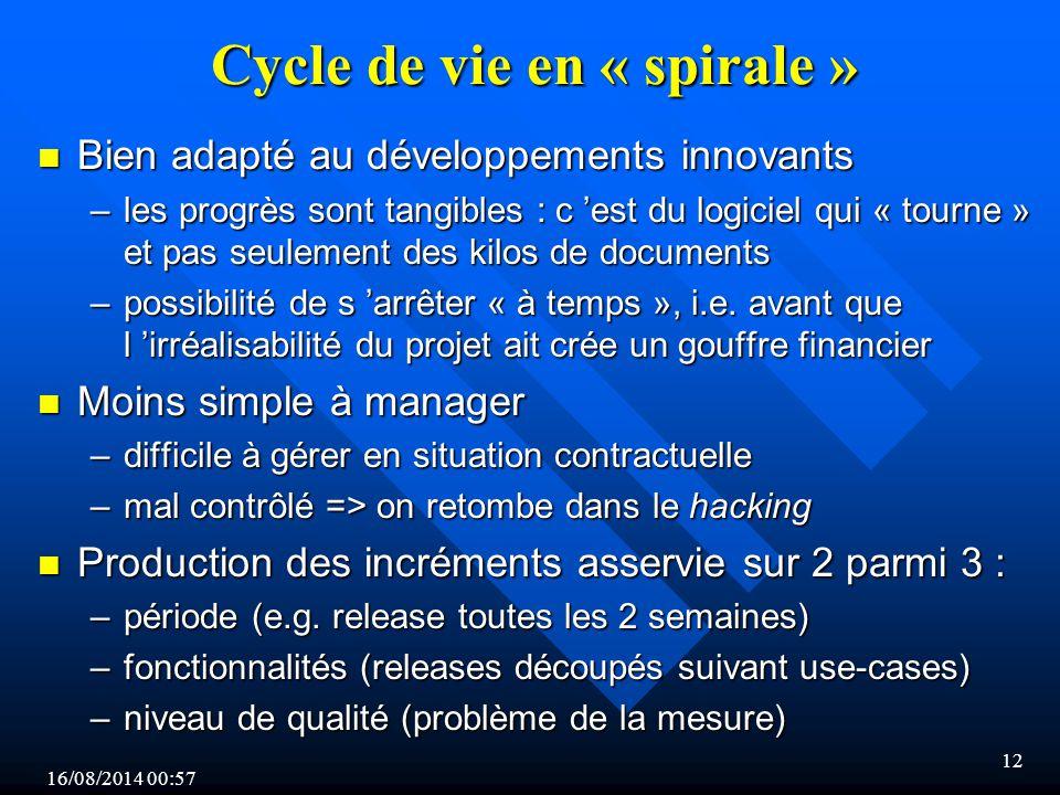 Cycle de vie en « spirale »